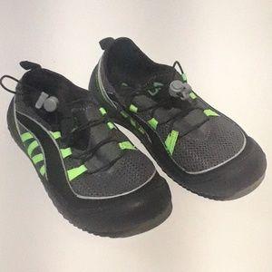 Fila Spectrum Leather Running Shoe Black / Lime